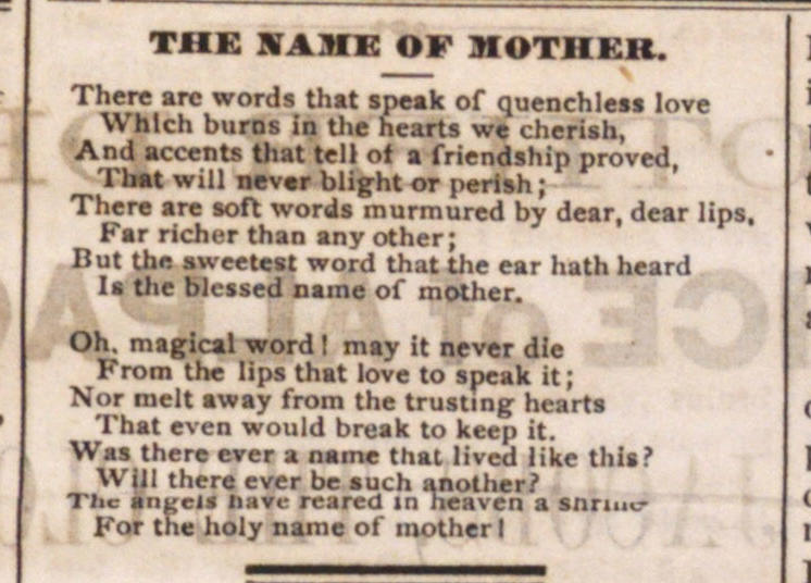 The Name Of Mother image