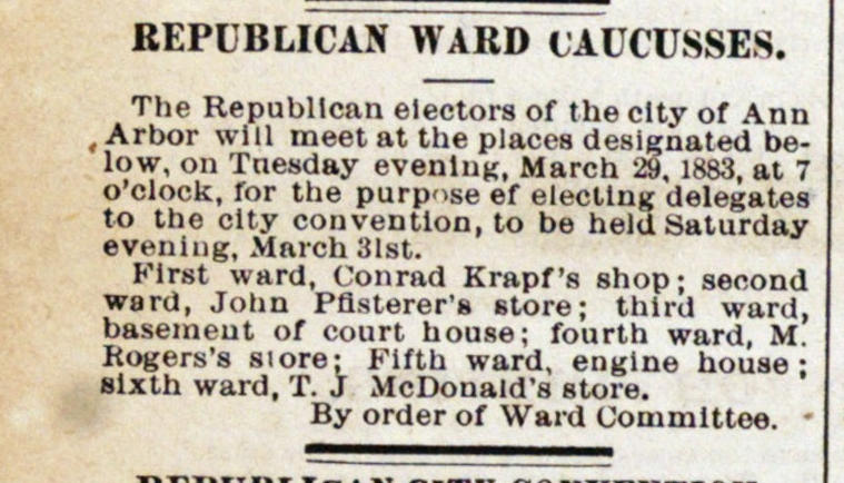 Republican Ward Caucusses image