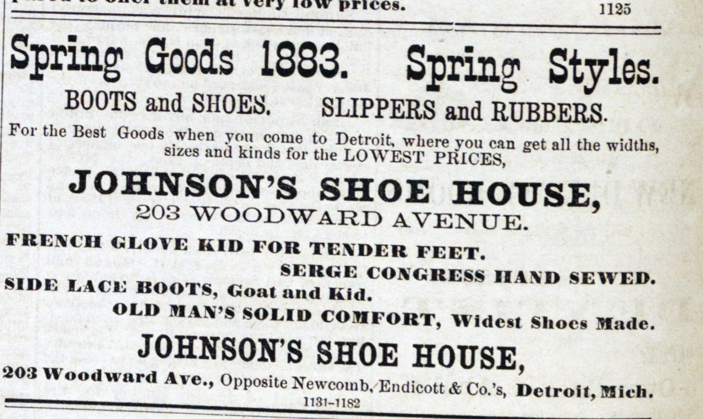 Spring Goods 1883. Spring Styles image