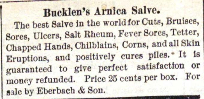 Classified_ad: Bucklen's Arnica Salve image