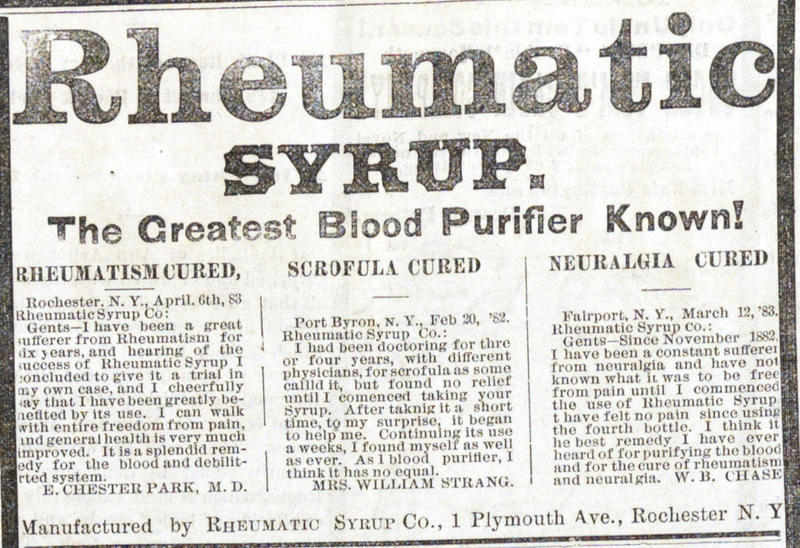 Rheumatic Syrup | Ann Arbor District Library