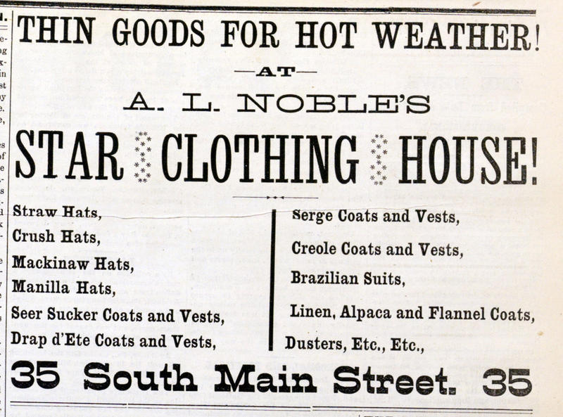 Thin Goods For Hot Weather! image