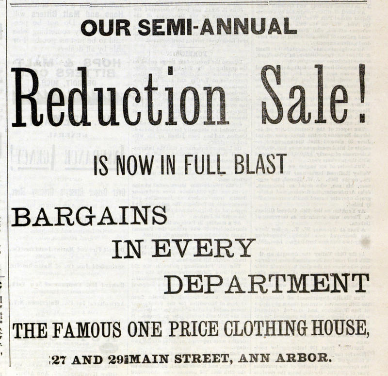 Reduction Sale! image