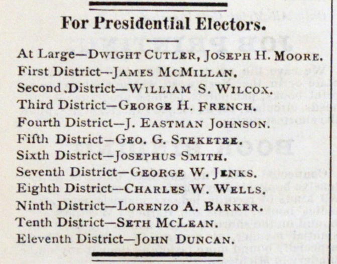 For Presidential Electors image
