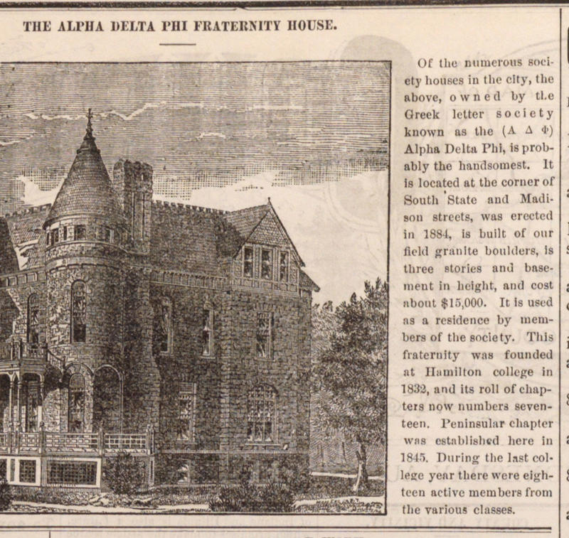 The Alpha Delta Phi Fraternity House image