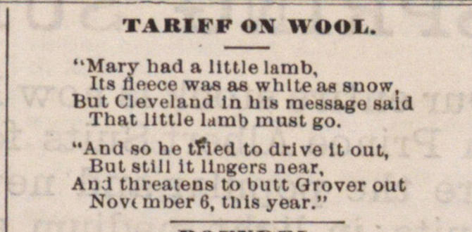 Tariff On Wool image