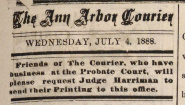 The Ann Arbor Courier image