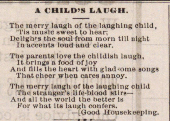A Child's Laugh image