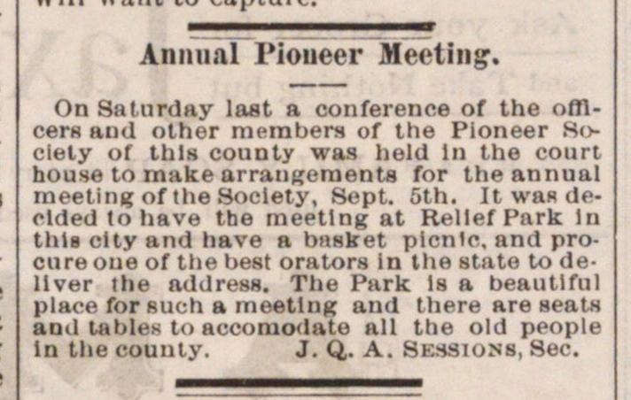 Annual Pioneer Meeting image