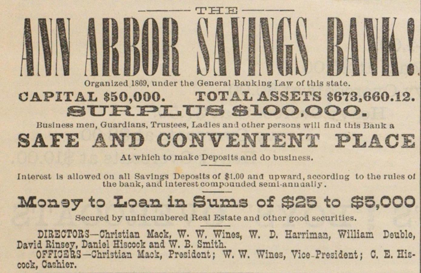 Ann Arbor Savings Bank! image