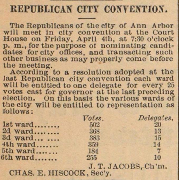 Republican City Convention image