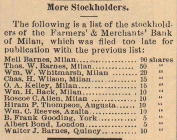 More Stockholders image
