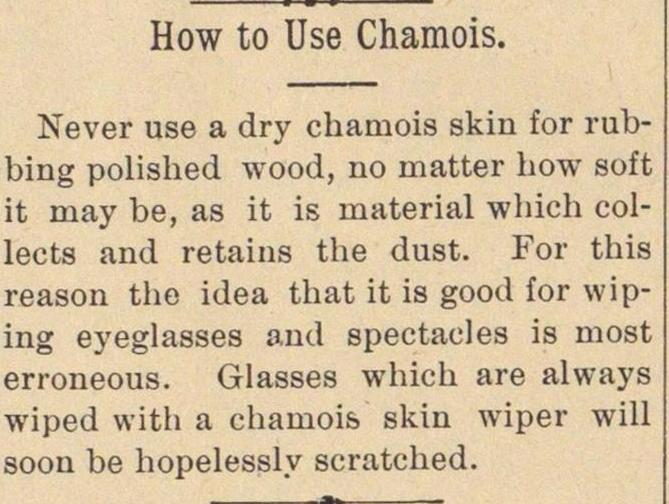 How To Use Chamois image