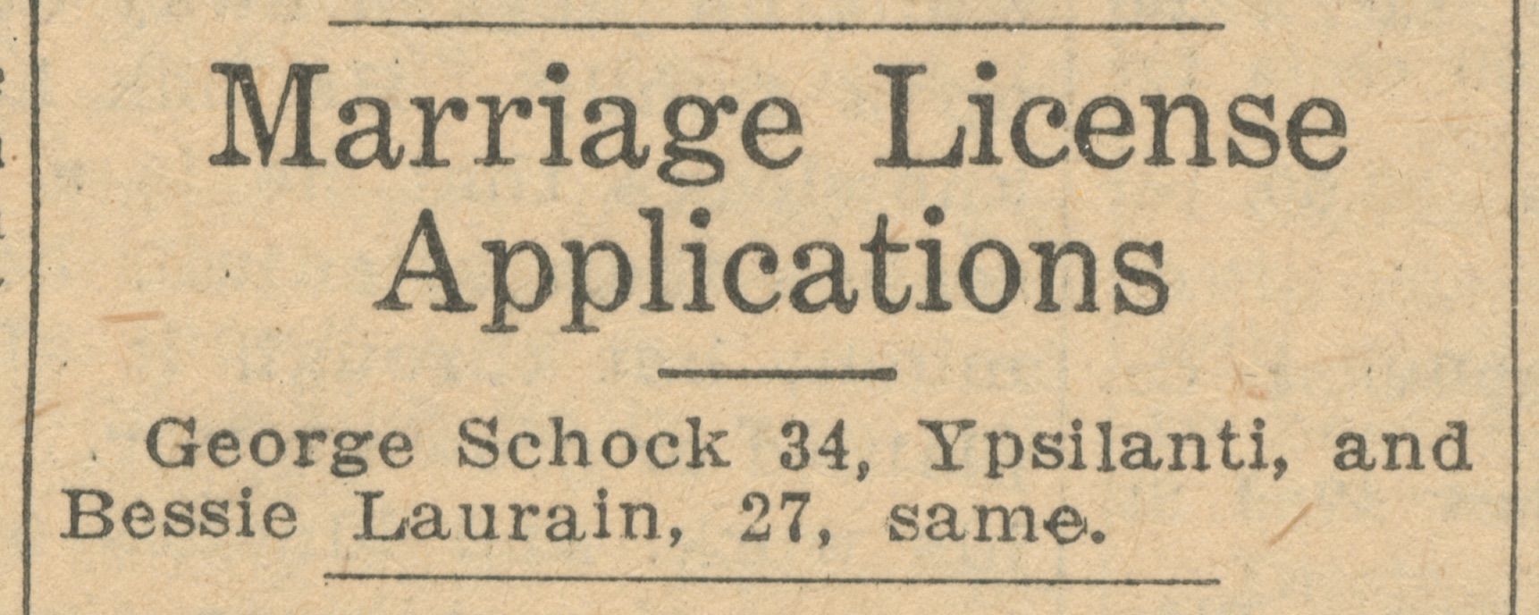 Marriage License Applications image