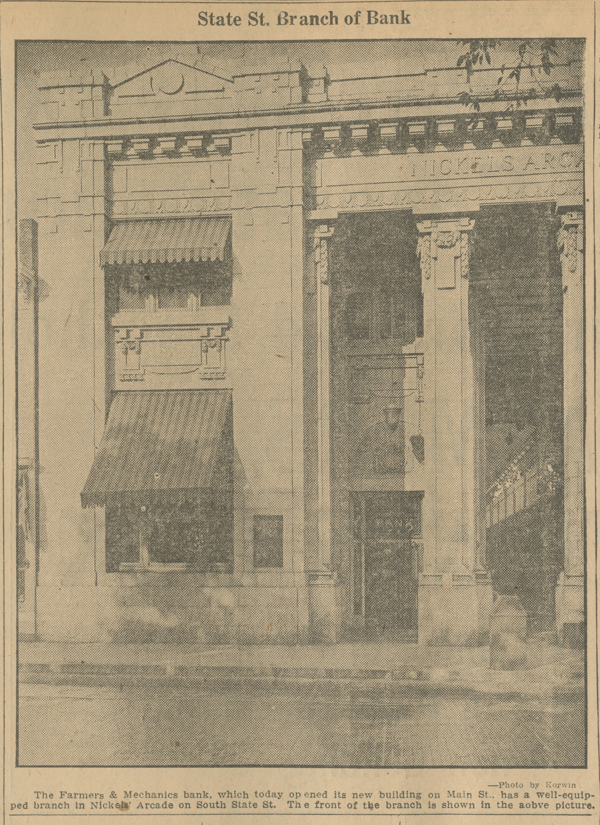 State St. Branch of Bank image