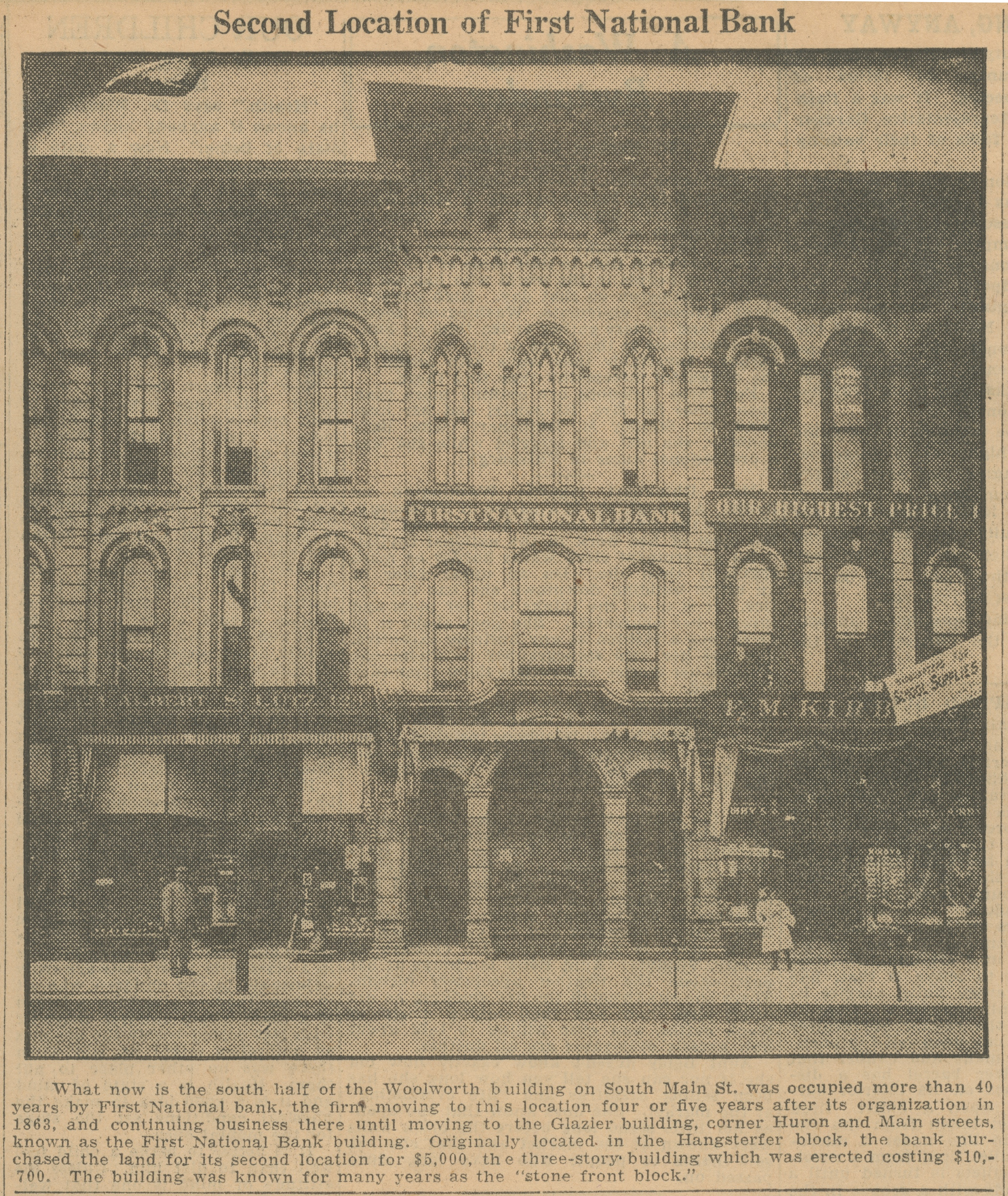 Second Location of First National Bank image