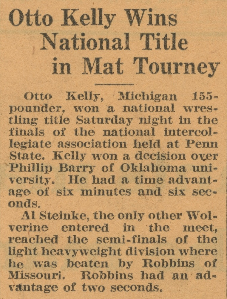 Otto Kelly Wins National Title in Mat Tourney image
