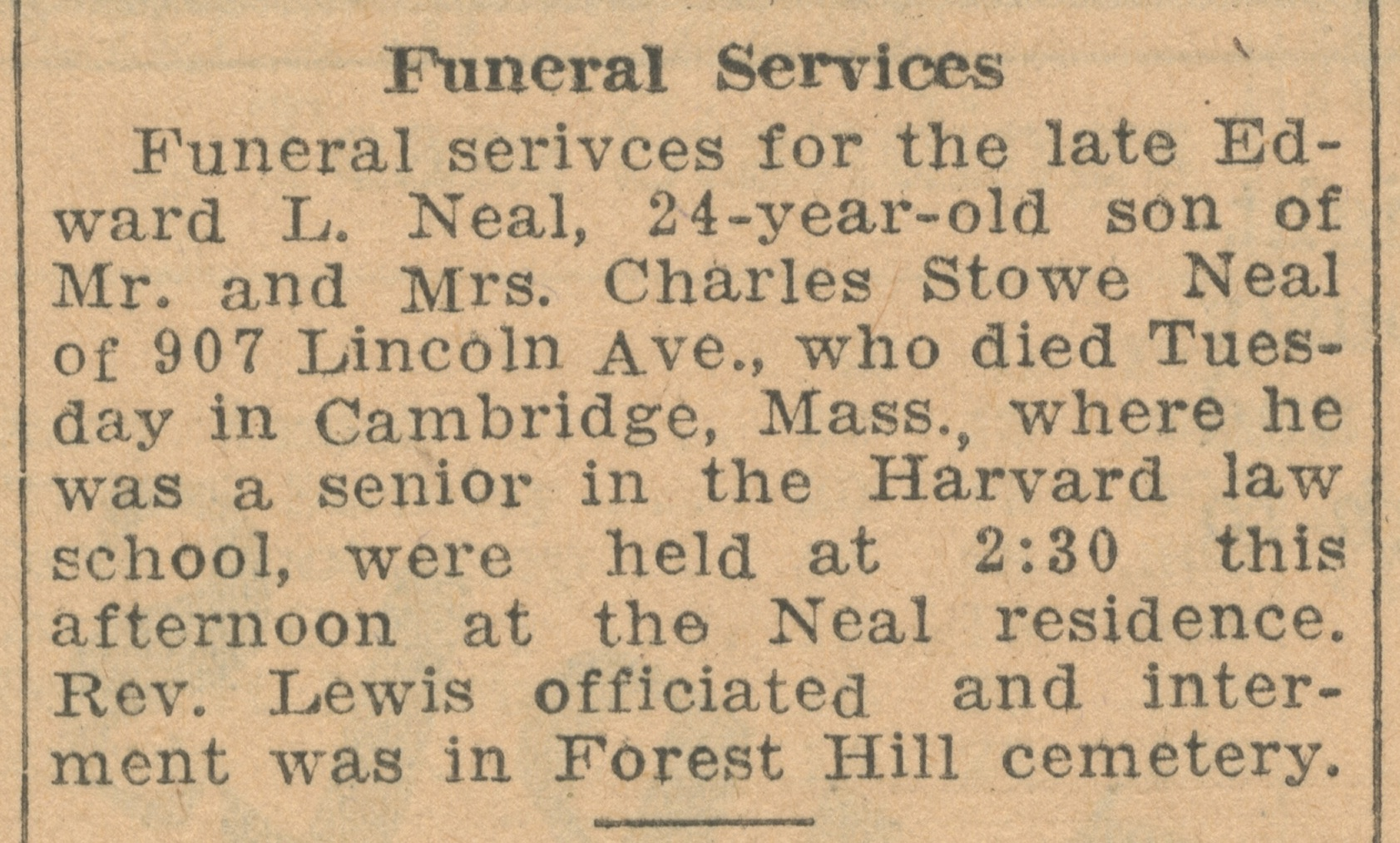 Funeral Services image