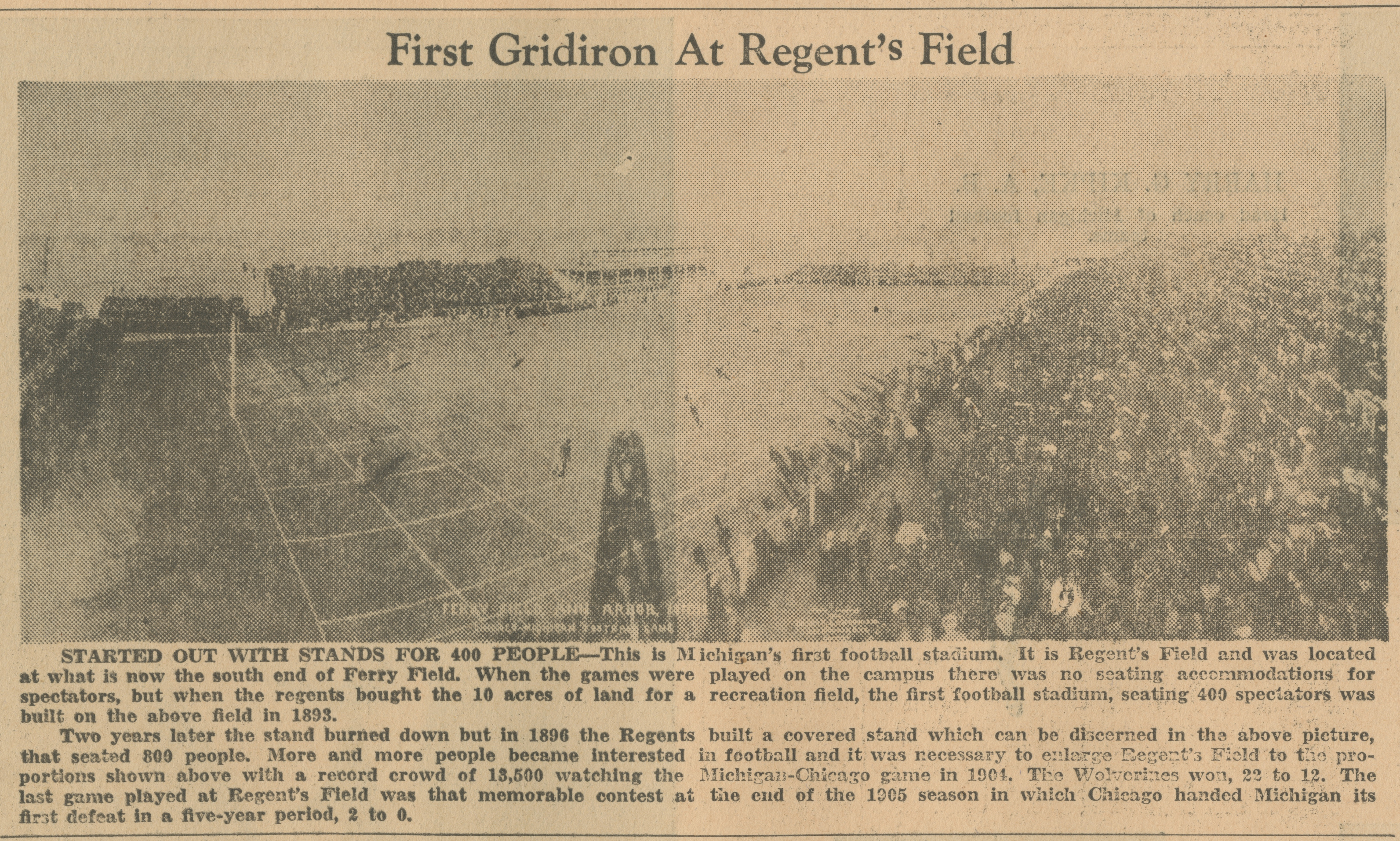 First Gridiron At Regent's Field image