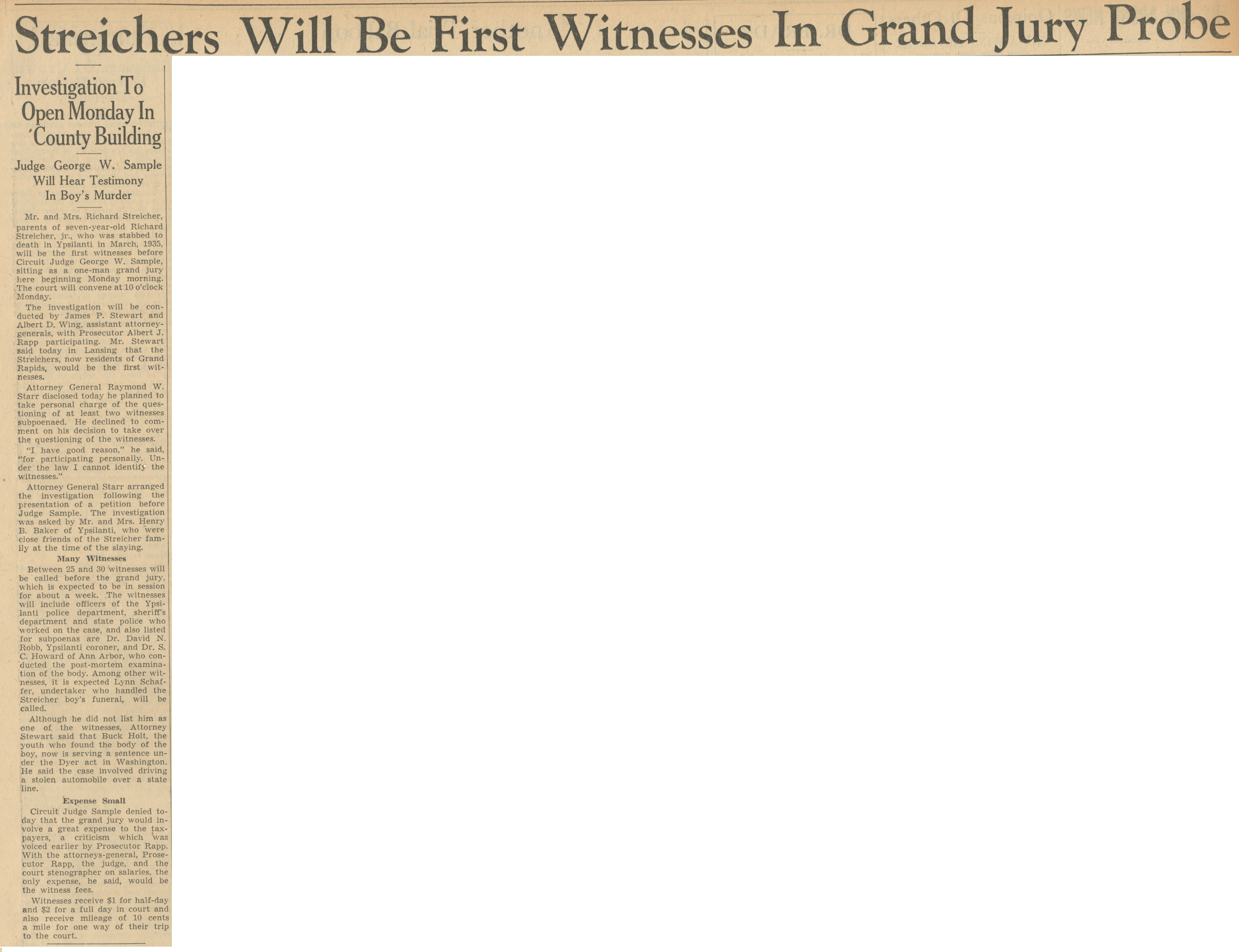 Streichers Will Be First Witnesses In Grand Jury Probe | Ann Arbor ...