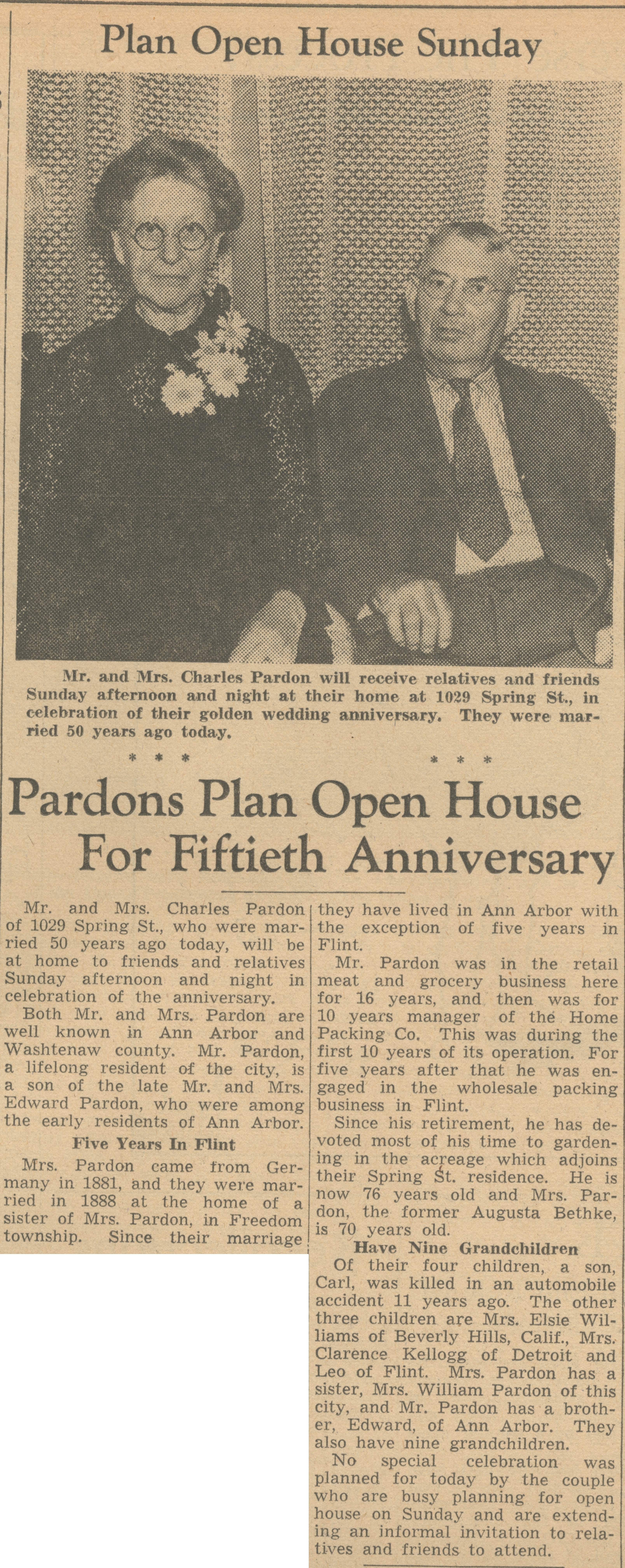 Pardons Plan Open House For Fiftieth Anniversary image