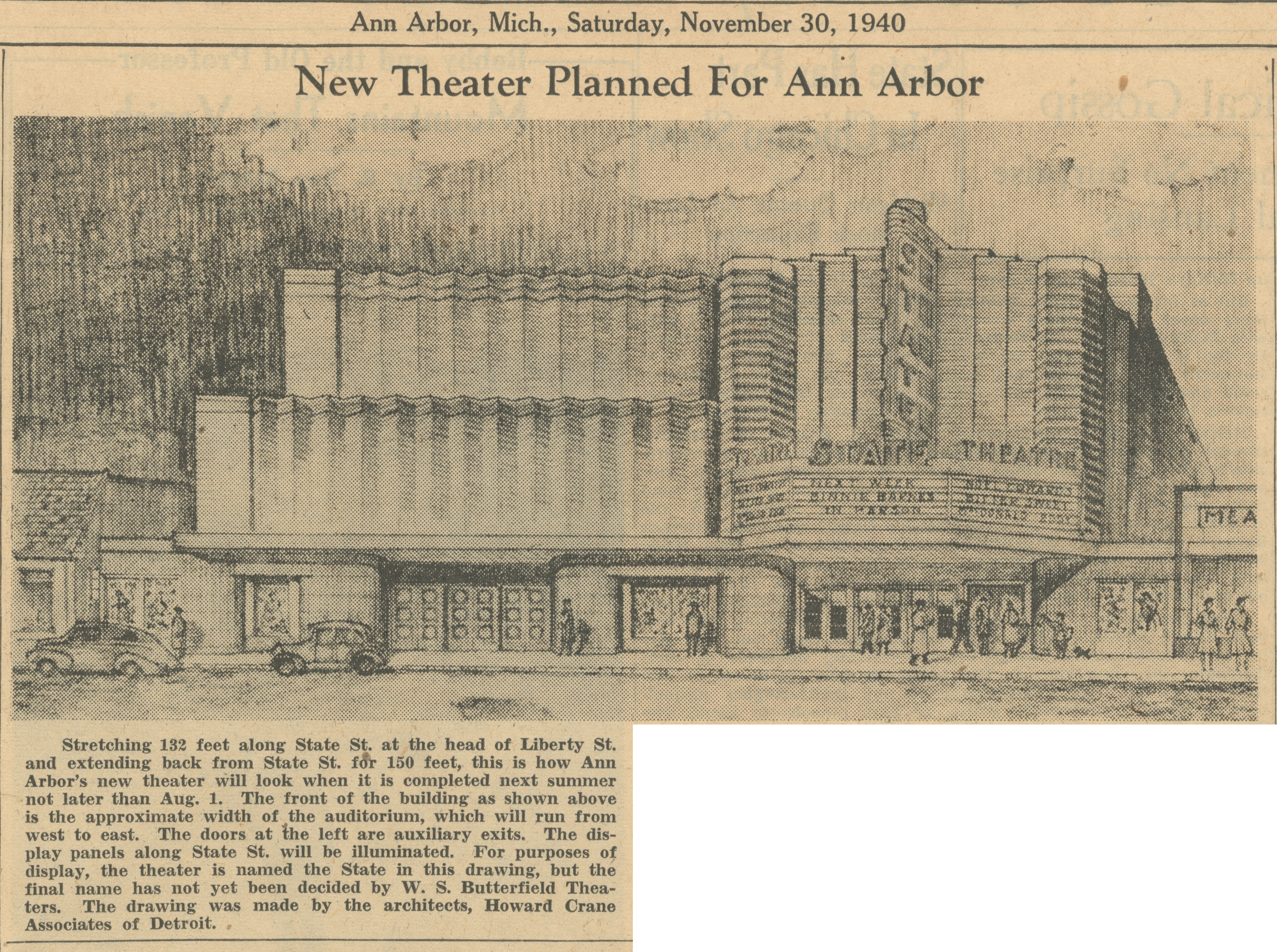 New Theater Planned For Ann Arbor image