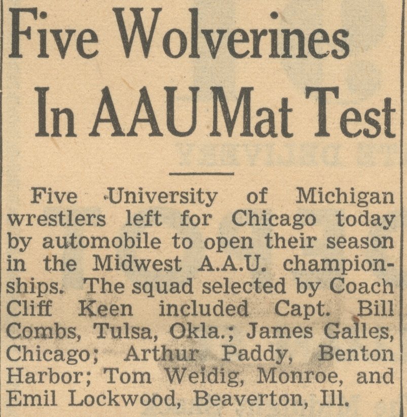 Five Wolverines In AAU Mat Test image