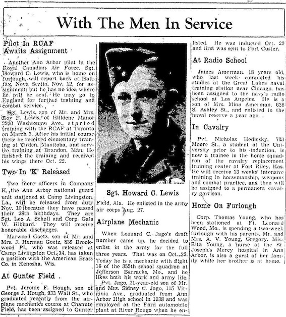 With The Men In Service: November 5, 1941 image