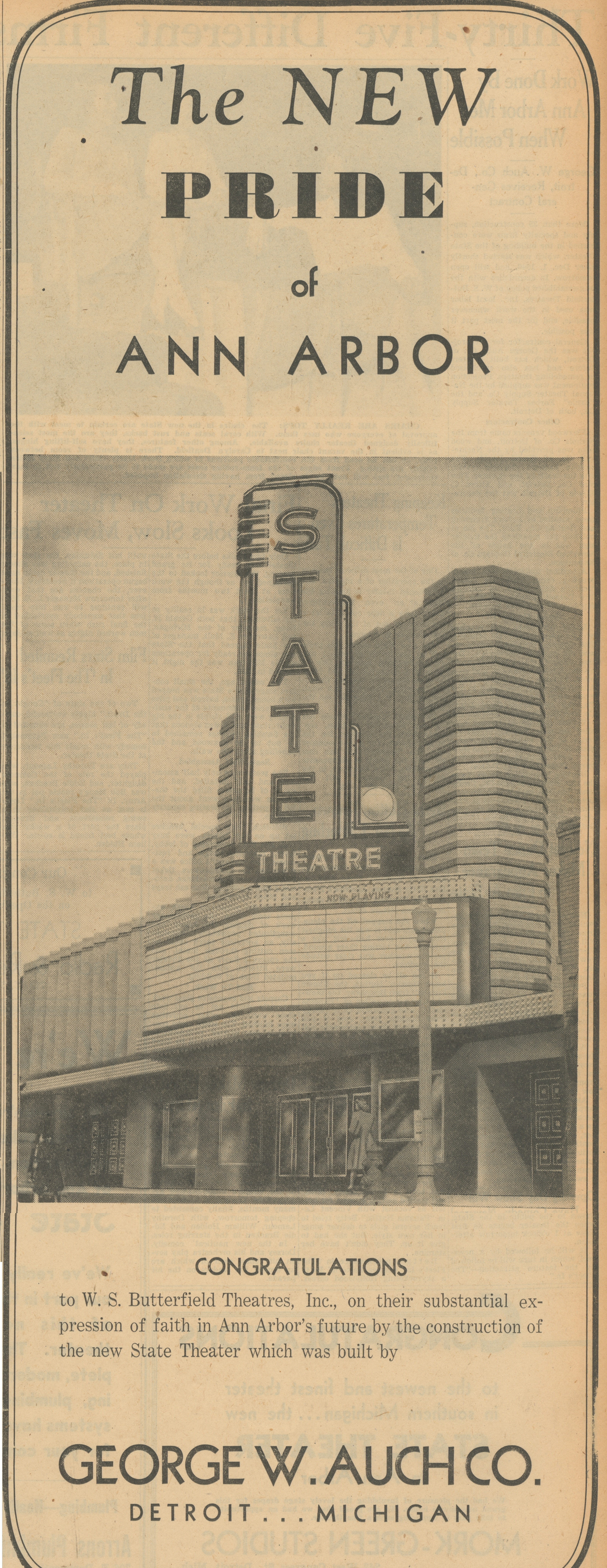 The New Pride of Ann Arbor - State Theater - Congratulations image