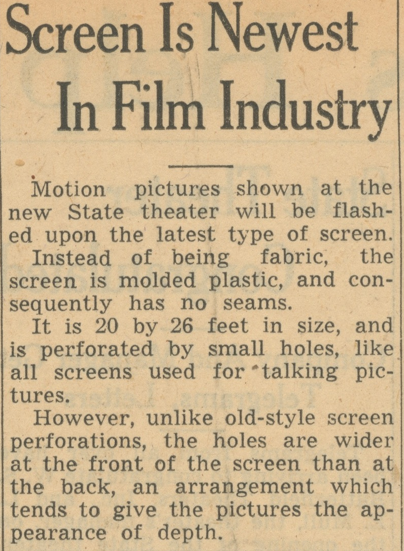 Screen Is Newest In Film Industry image