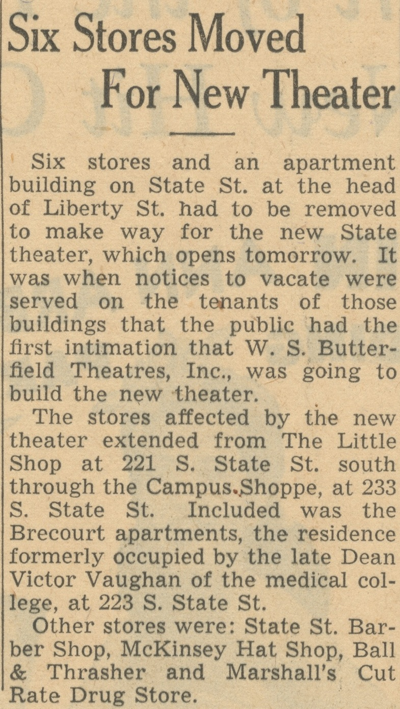 Six Stores Moved For New Theater image