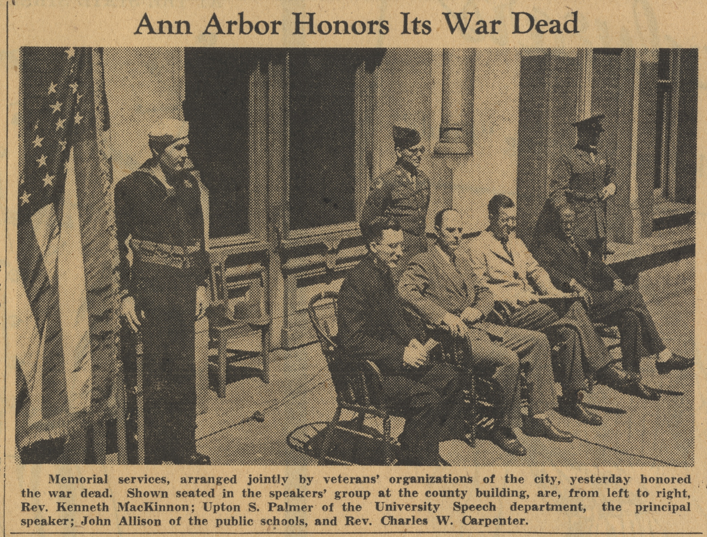 Ann Arbor Honors Its War Dead image