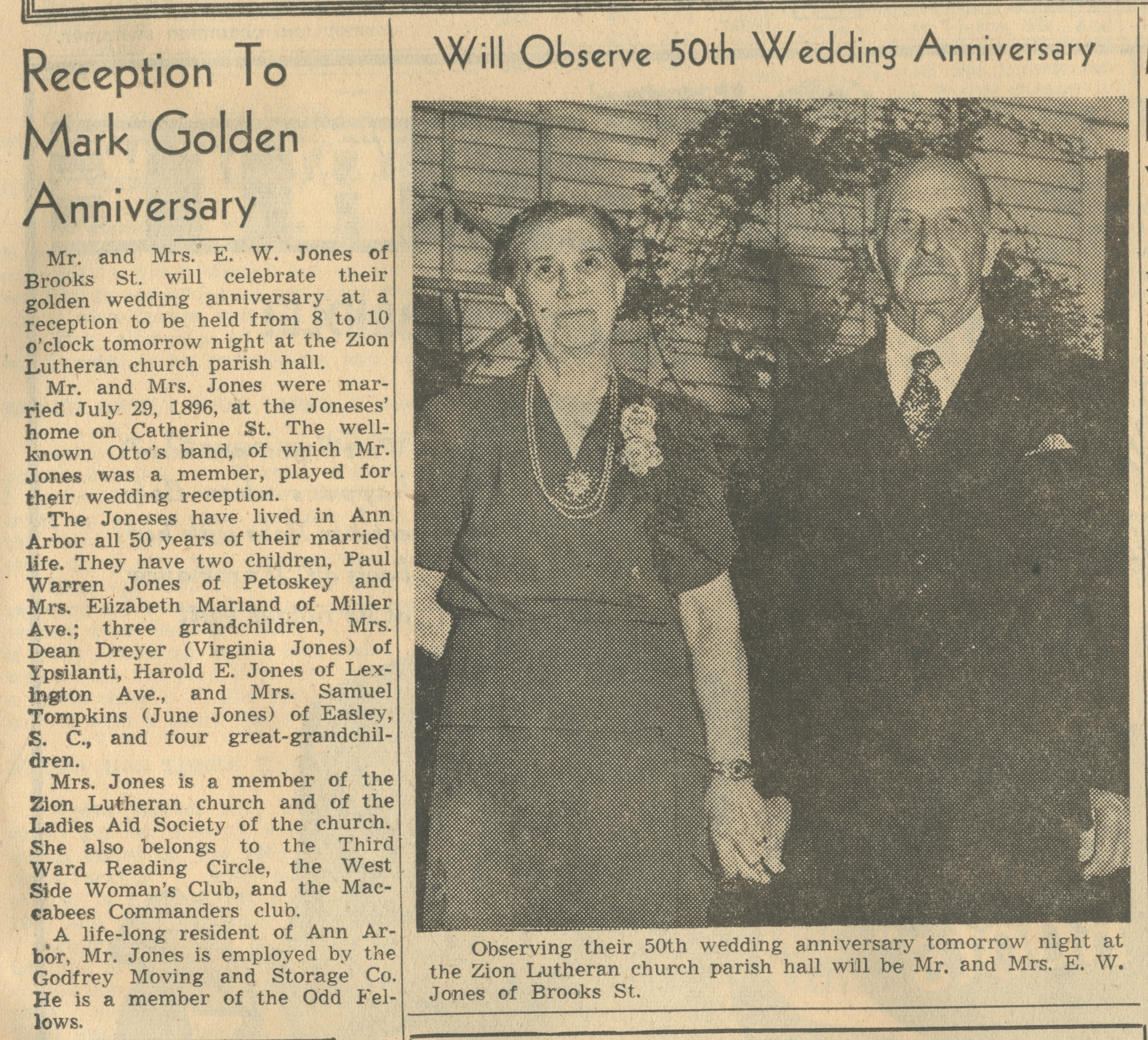 Reception To Mark Golden Anniversary image
