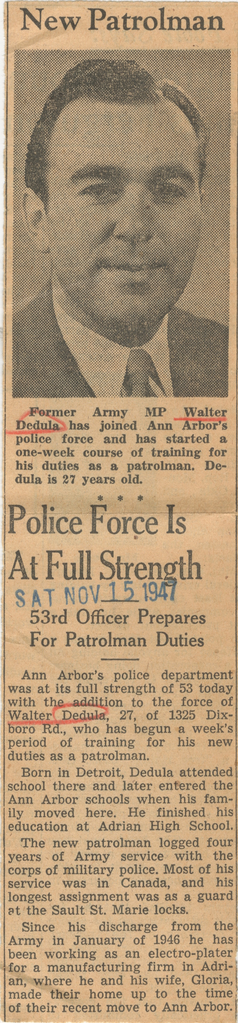 Police Force Is At Full Strength image