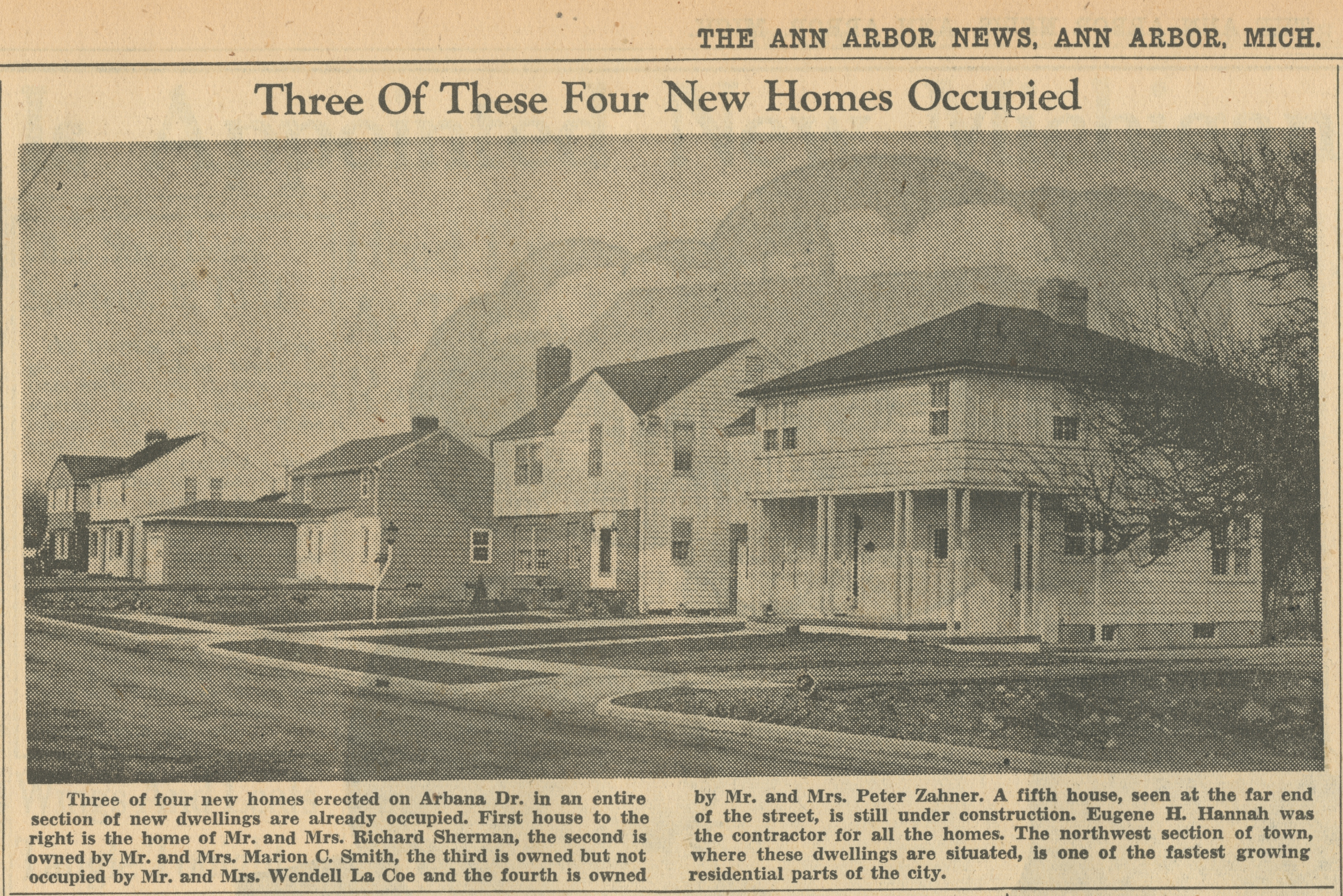Three Of These Four New Homes Occupied image