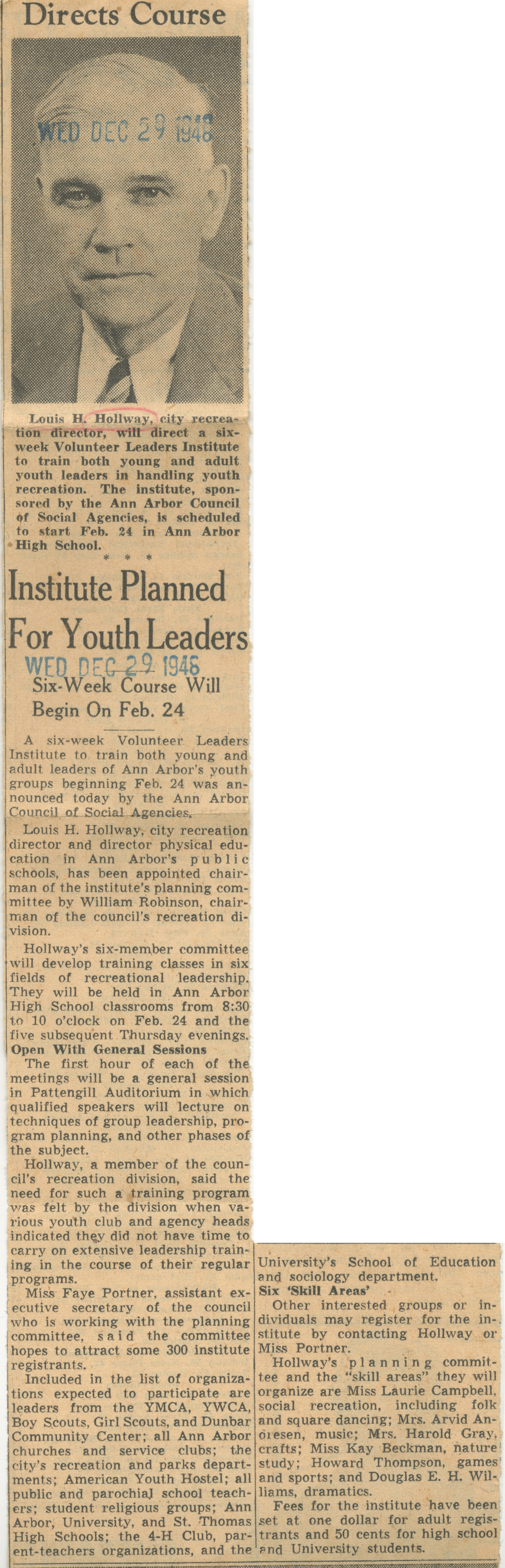 Institute Planned For Youth Leaders image