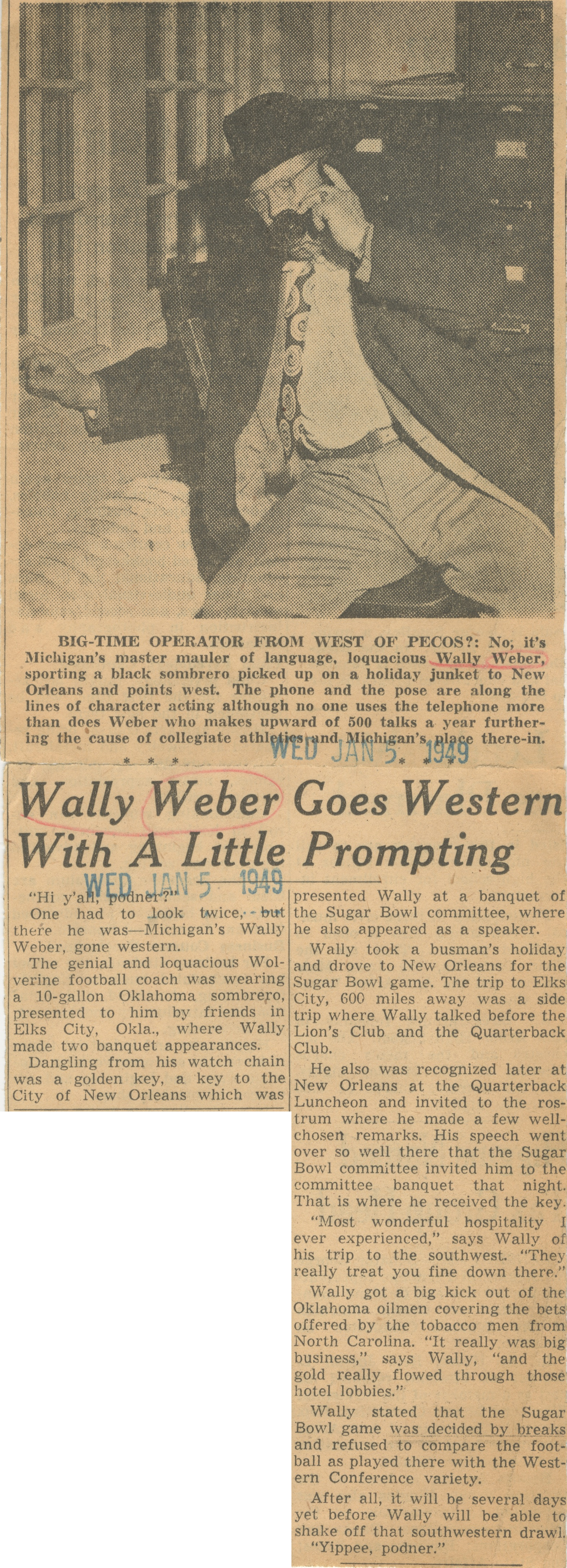 Wally Weber Goes Western With A Little Prompting image