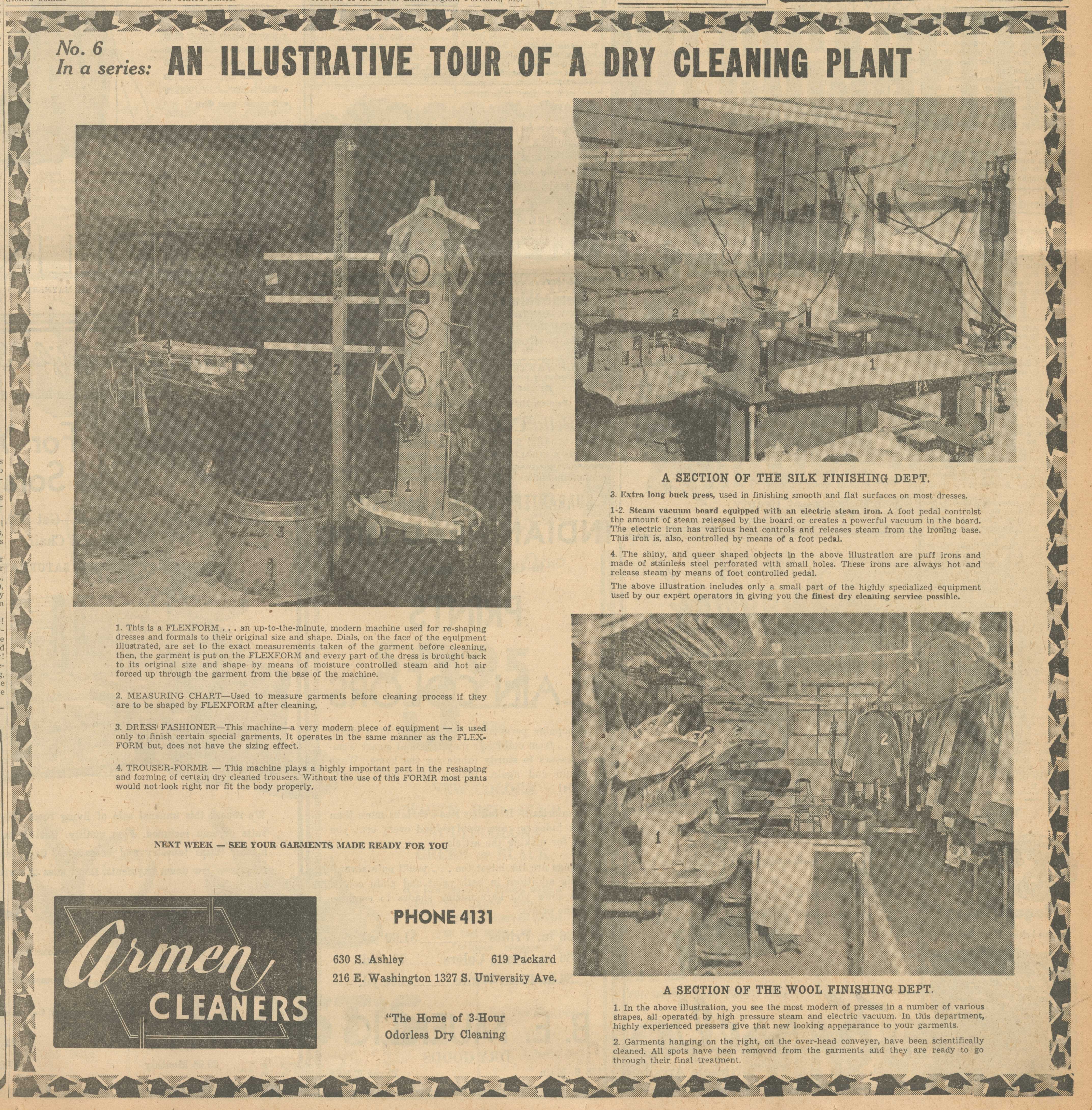 An Illustrative Tour Of A Dry Cleaning Plant, No  6 - Armen