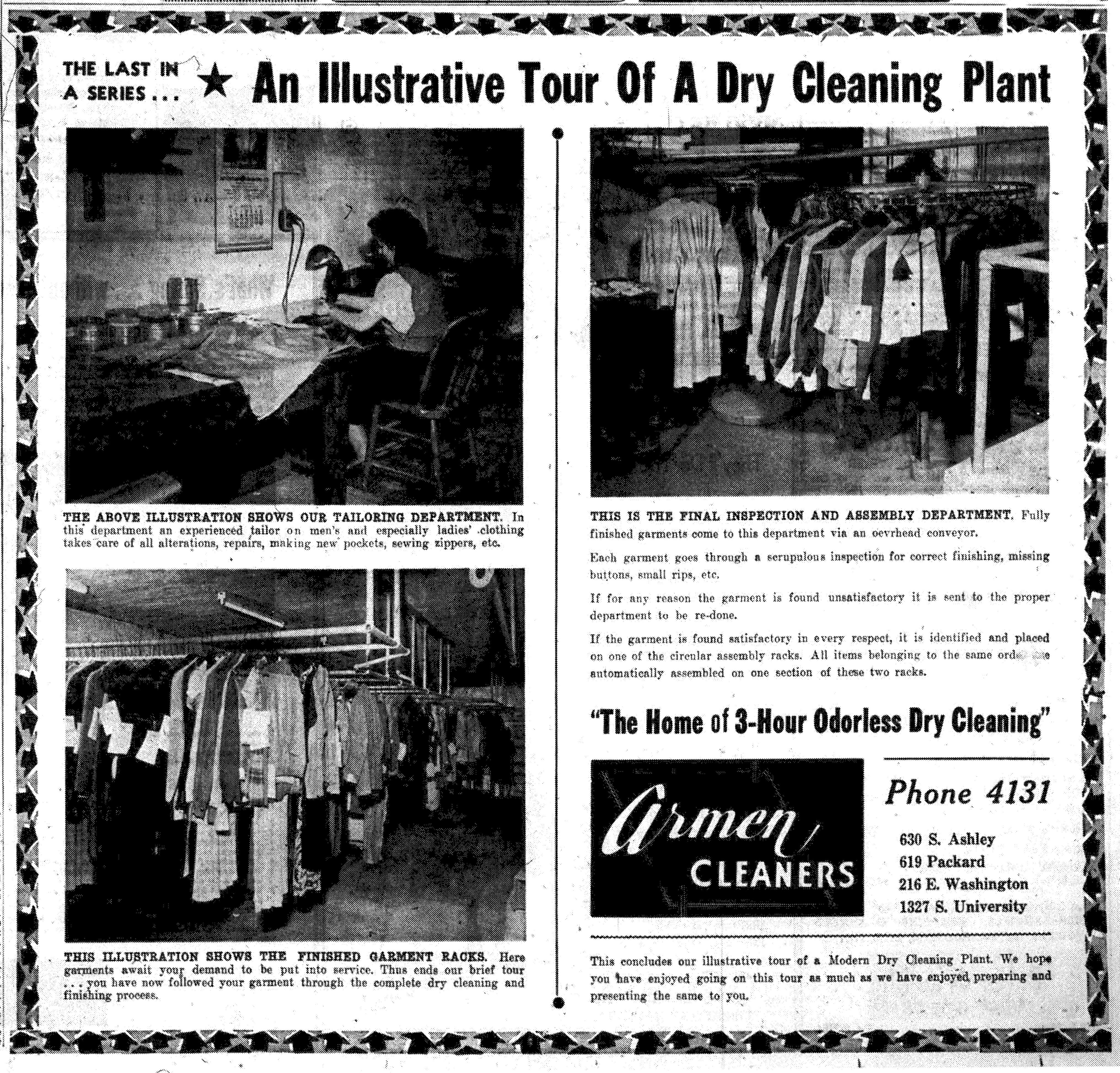 An Illustrative Tour Of A Dry Cleaning Plant No 7 Armen Cleaners Ann Arbor District Library