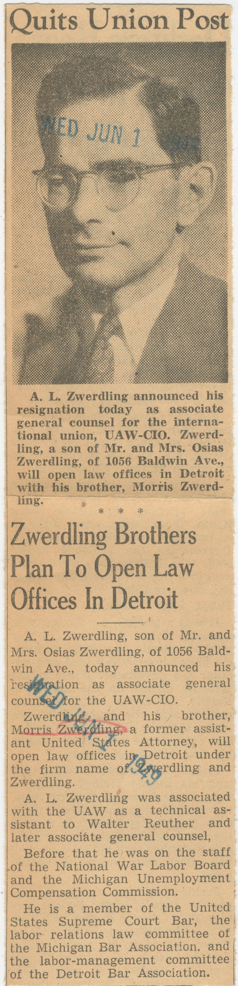 Zwerdling Brothers Plan To Open Law Offices In Detroit image
