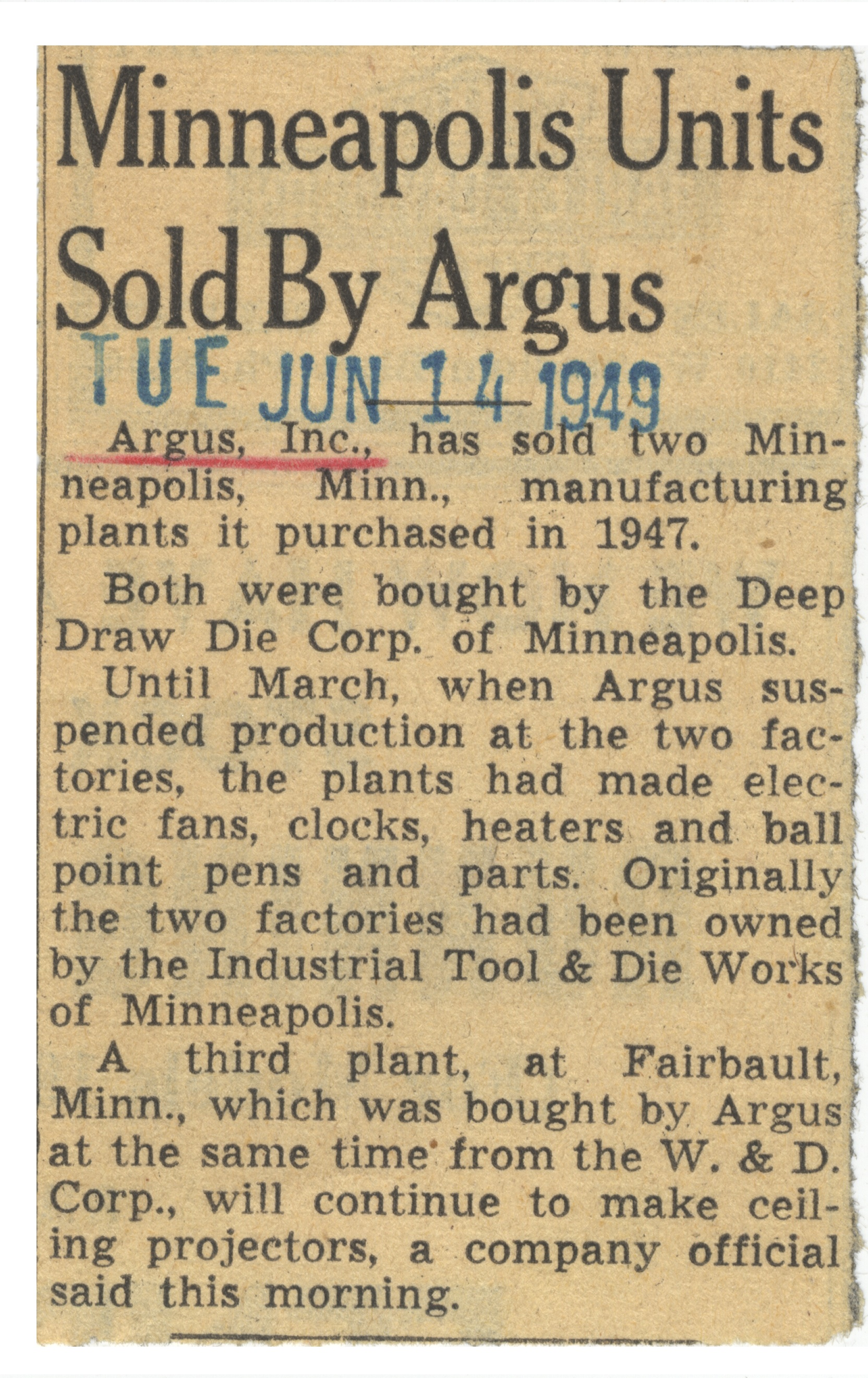 Minneapolis Units Sold By Argus image