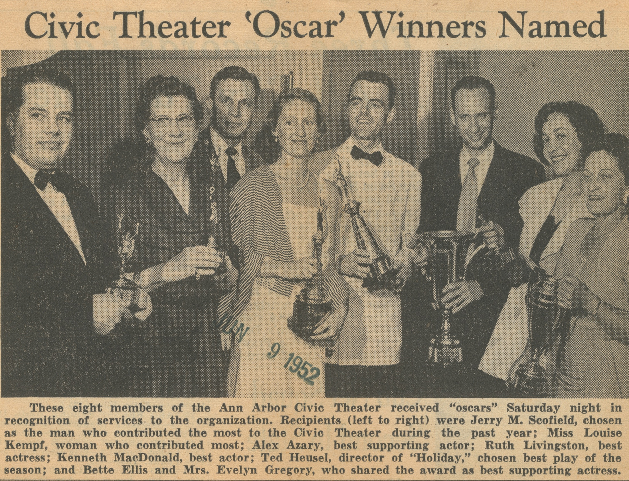 Civic Theater 'Oscar' Winners Named image