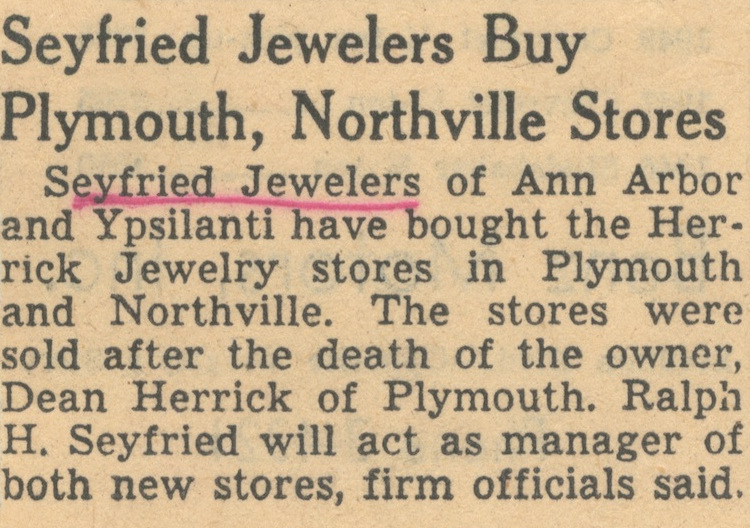 Seyfried Jewelers Buy Plymouth, Northville Stores image