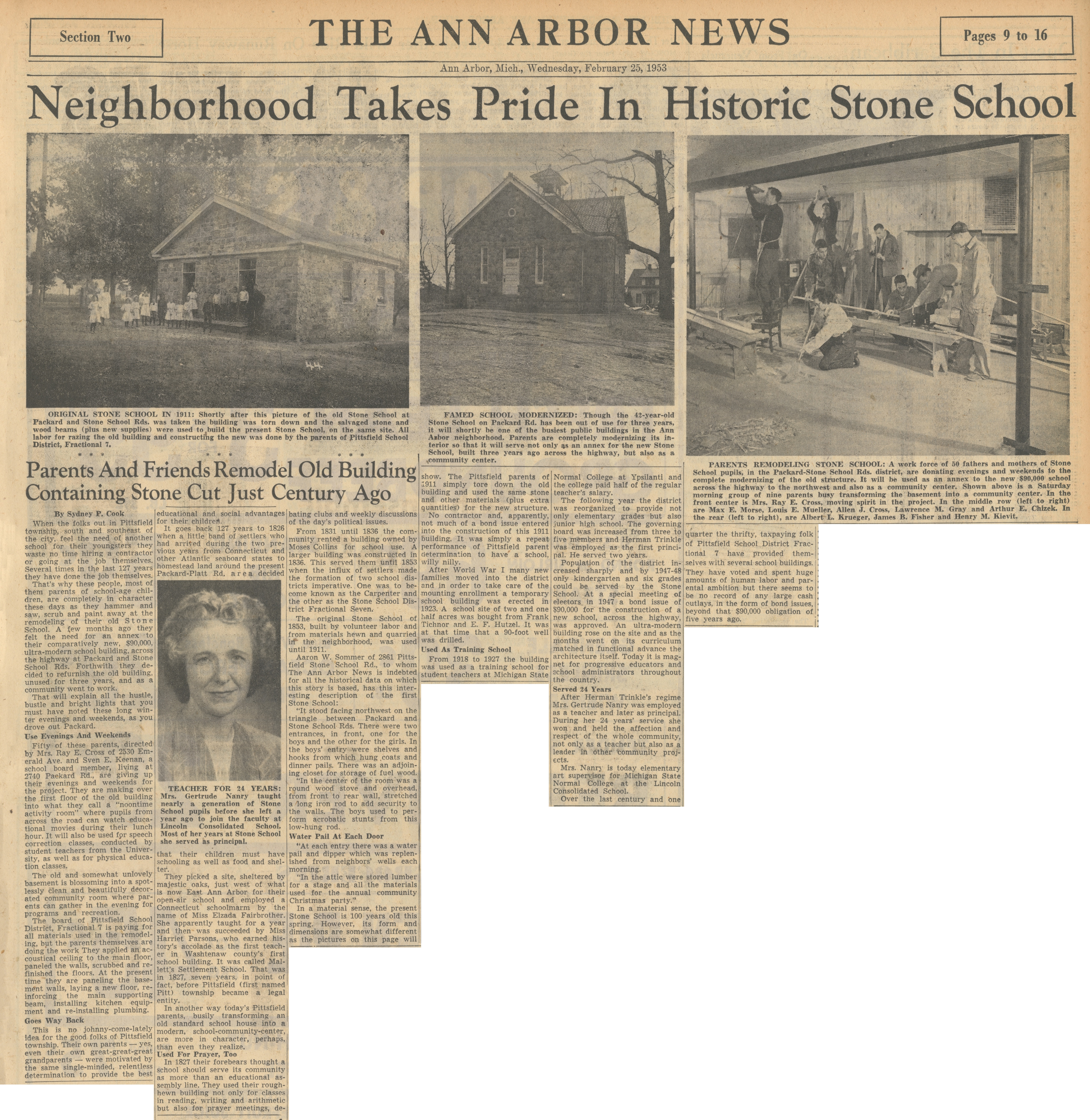 Neighborhood Takes Pride In Historic Stone School image