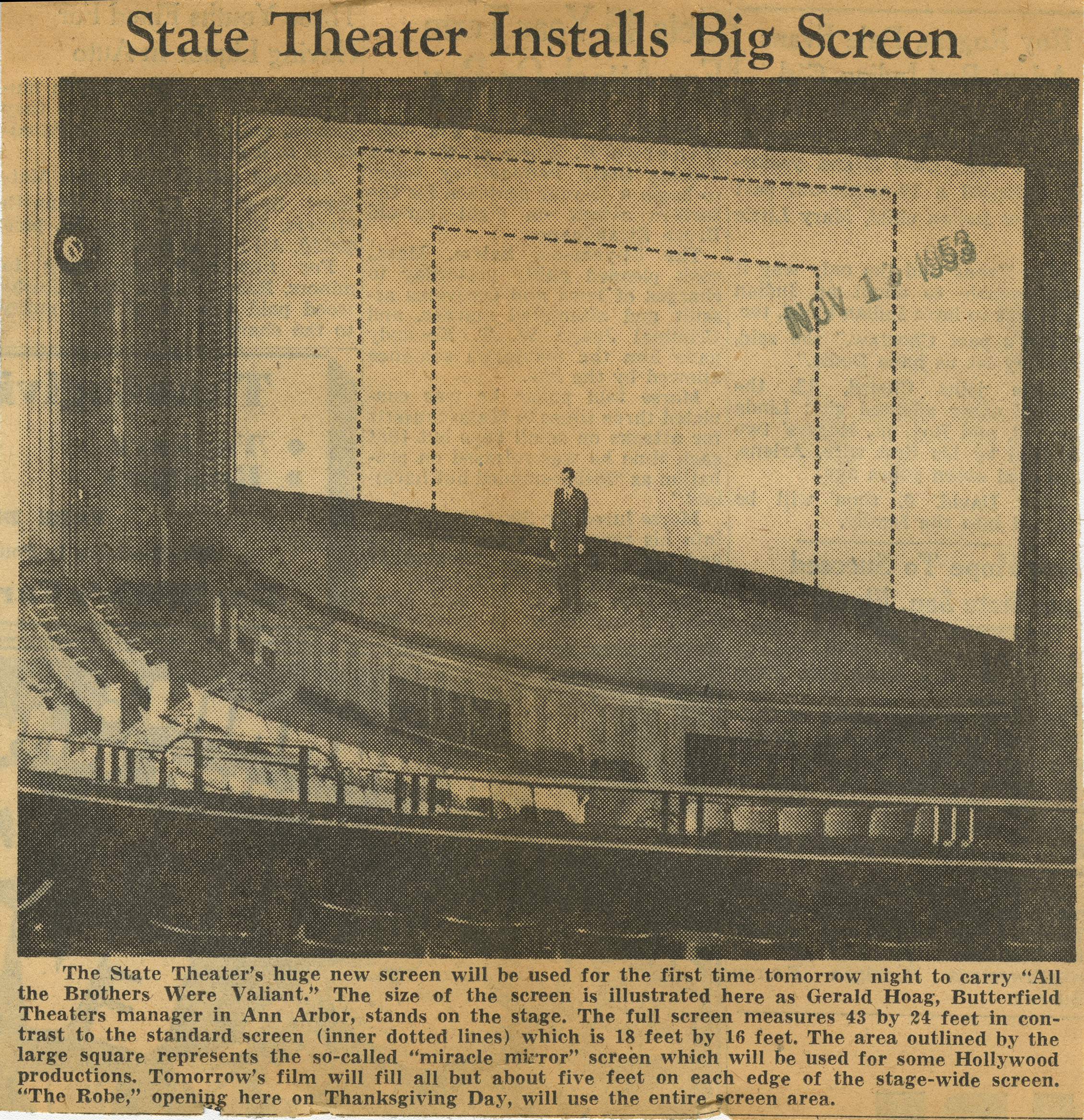 State Theater Installs Big Screen image