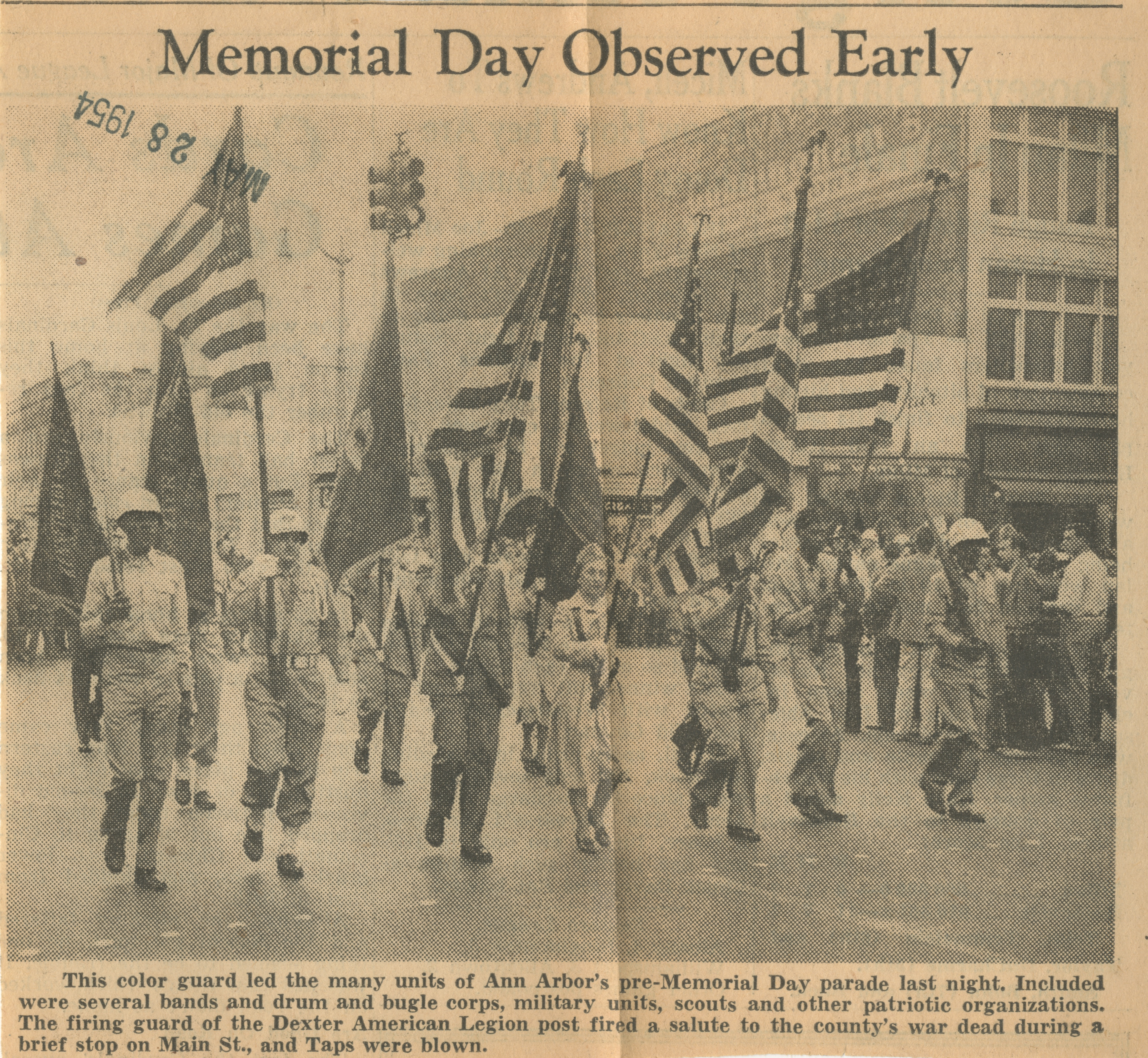 Memorial Day Observed Early image