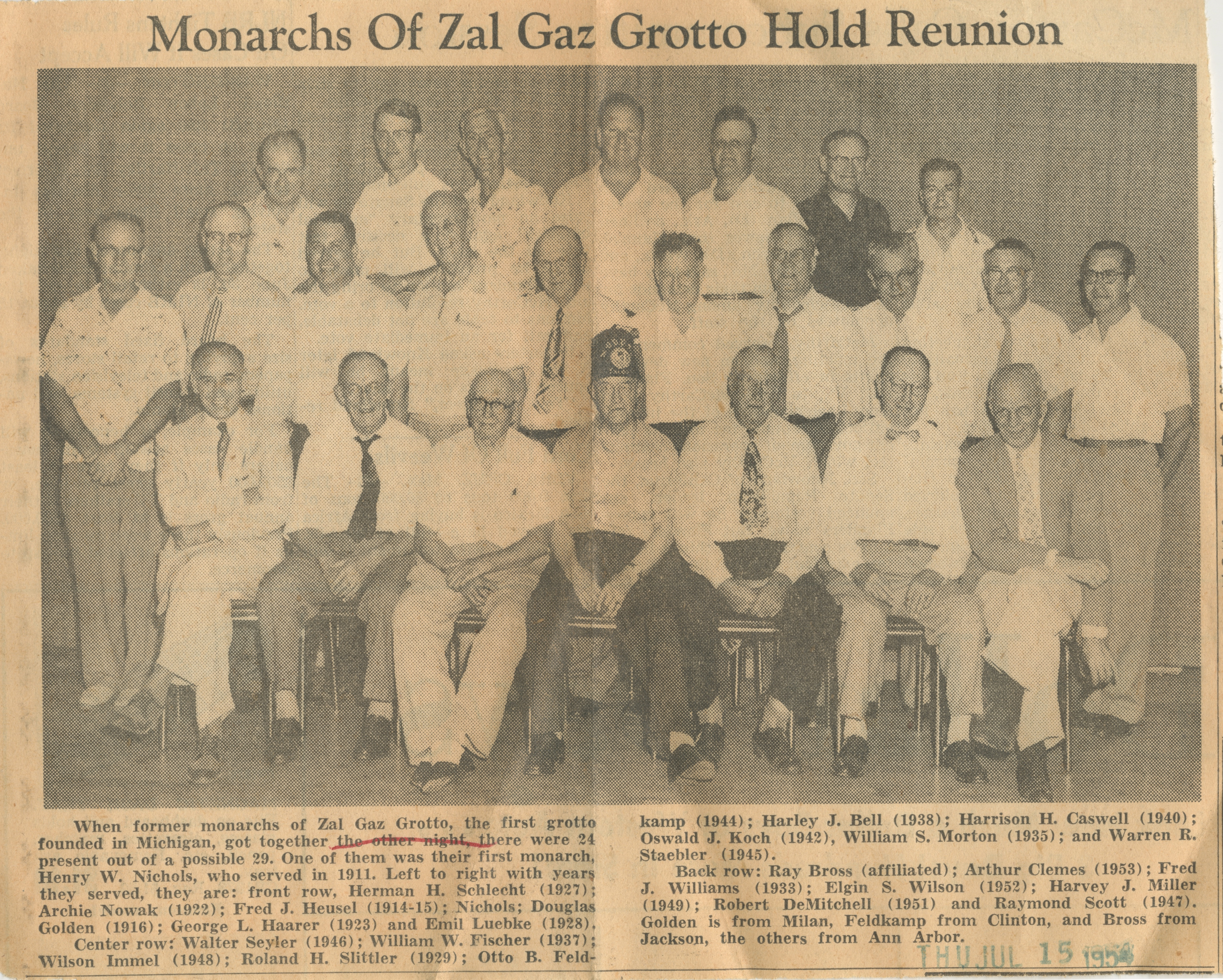 Monarchs Of Zal Gaz Grotto Hold Reunion image