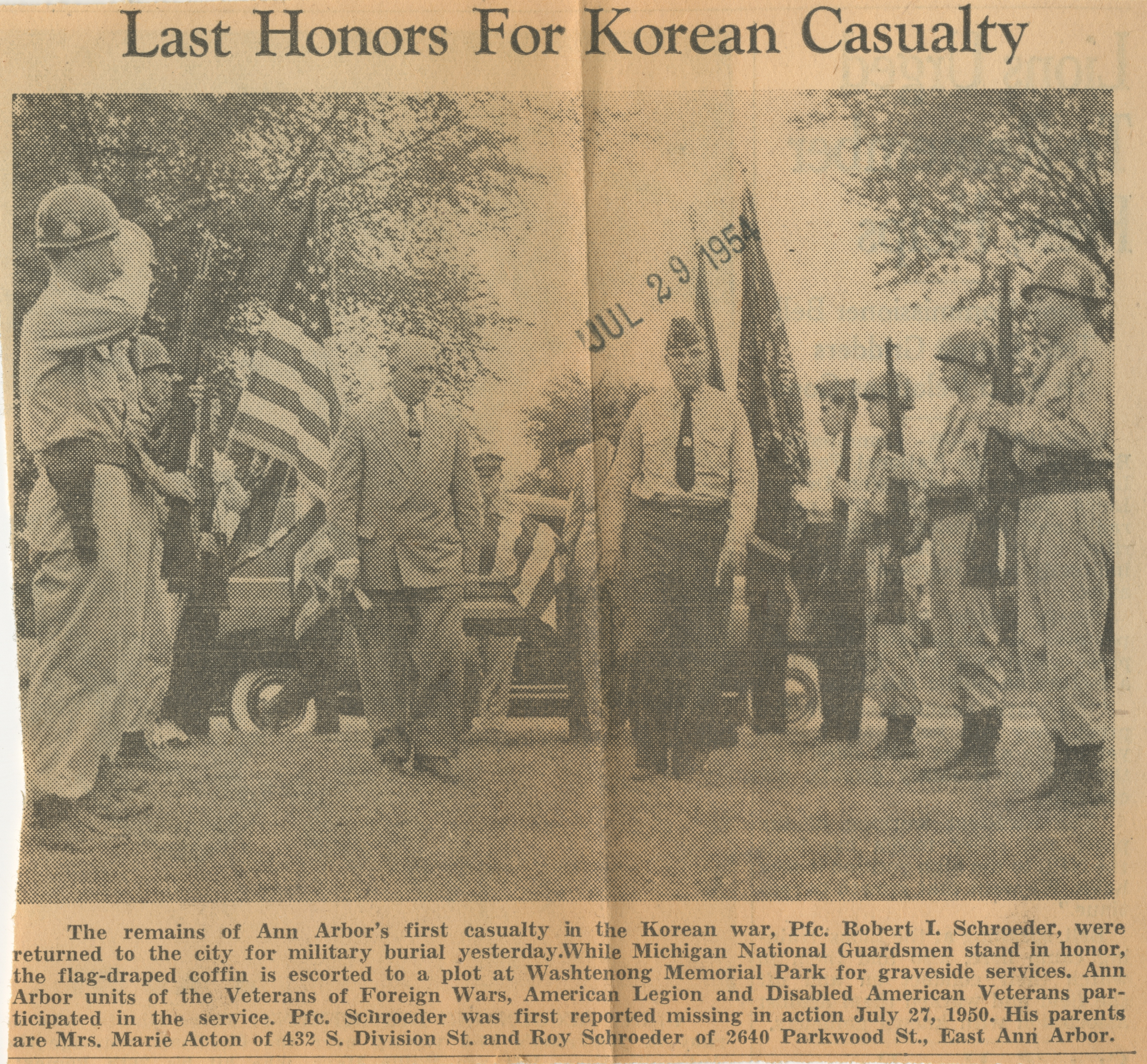 Last Honors For Korean Casualty image