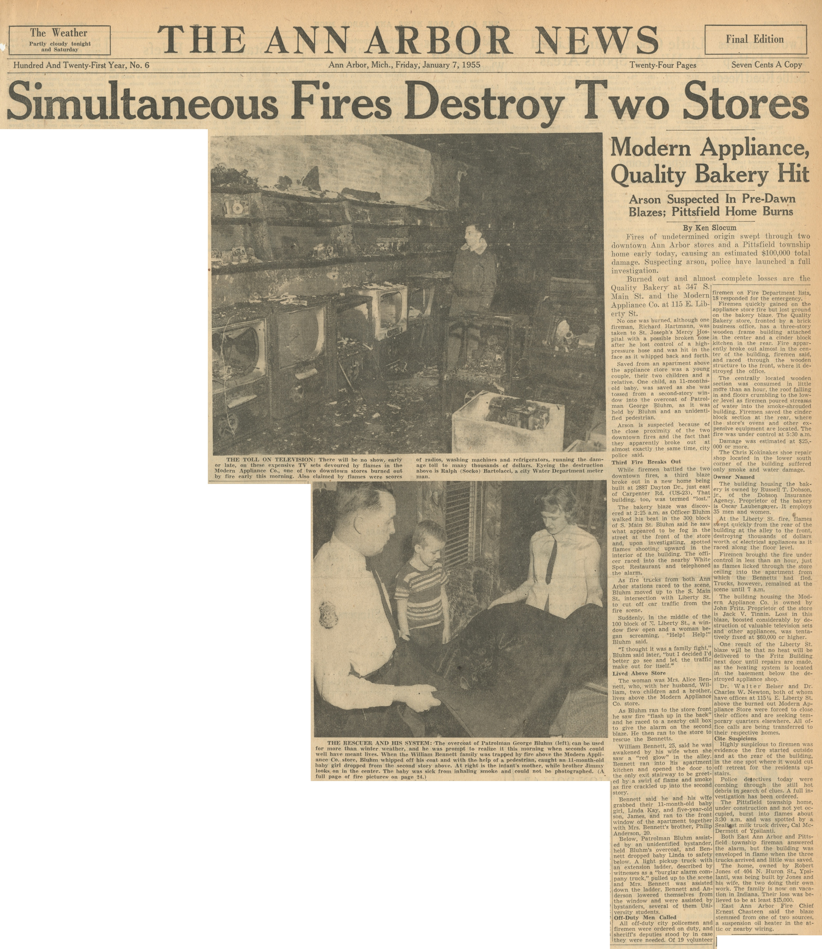 Simultaneous Fires Destroy Two Stores image