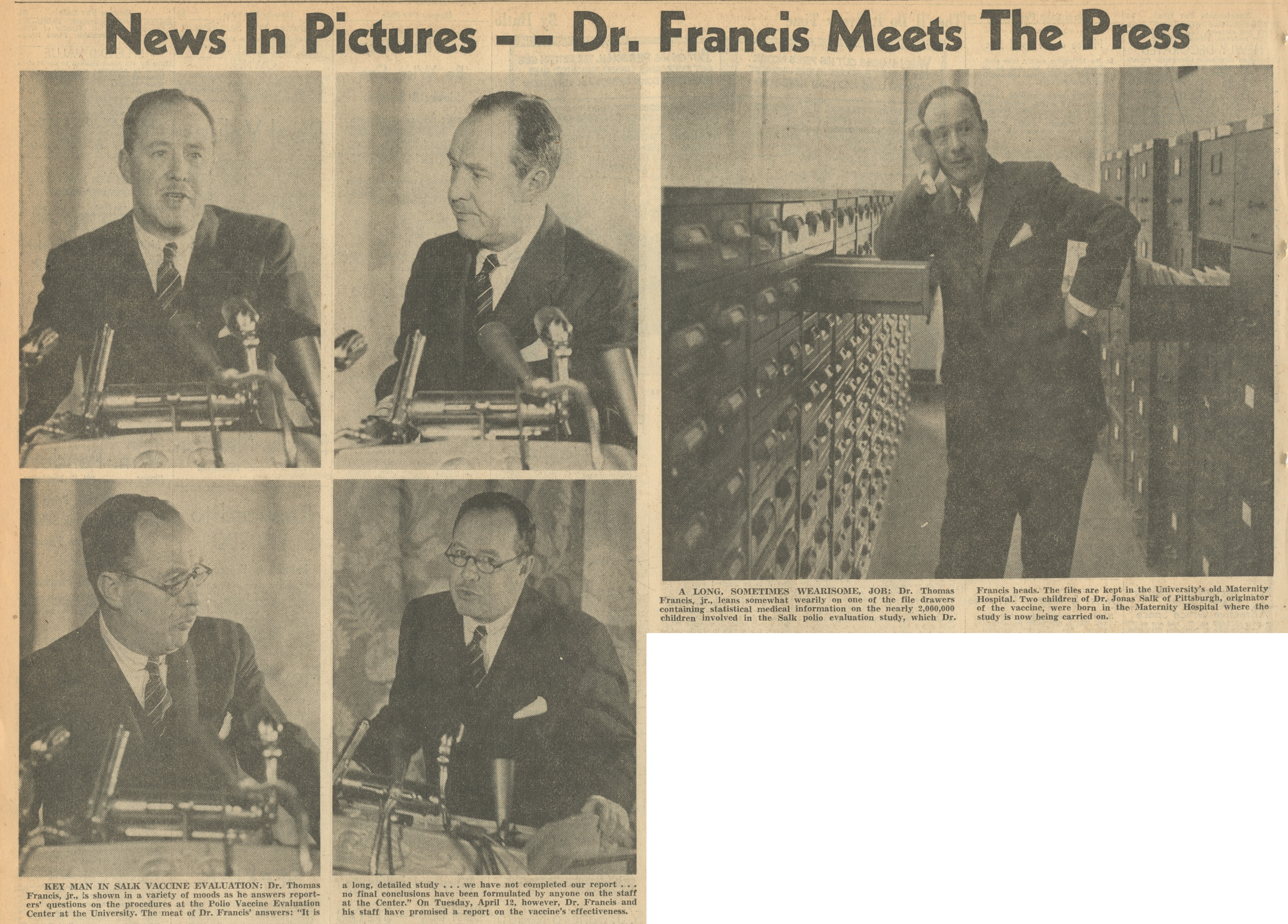News In Pictures -- Dr. Francis Meets The Press image